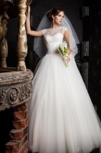 свадебное платье Сцилла с пышной юбкой