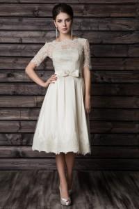 короткое свадебное платье Кора